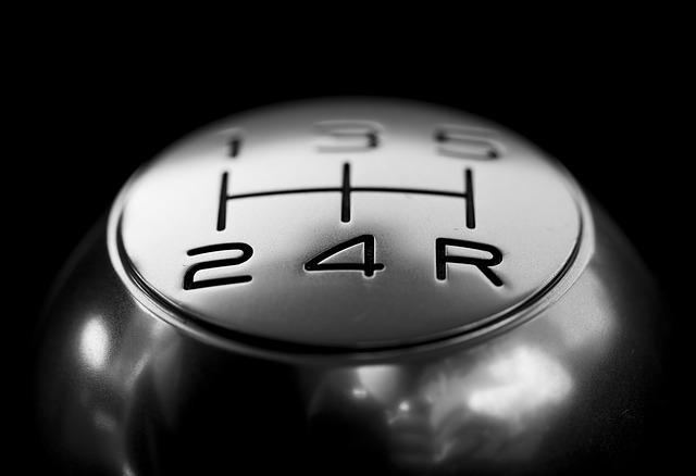 Silver gear knob