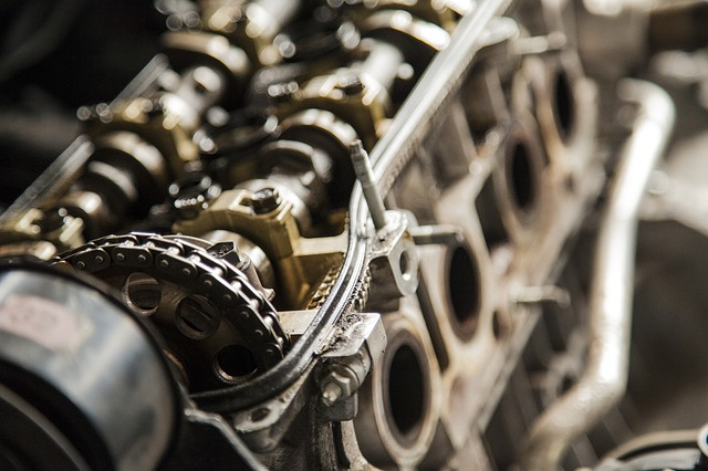 Valves in cylinder head